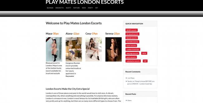 London Escorts Agency - No#1 Play Mates London Escorts